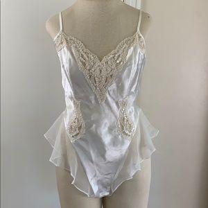 Victoria's Secret vintage white bodysuit teddy